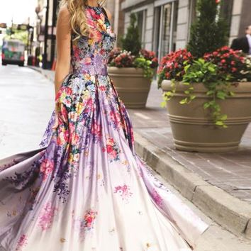 Stunning Print Jovani Dress 22753