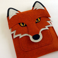 iPad case - Fox in rusty felt  - MADE TO ORDER