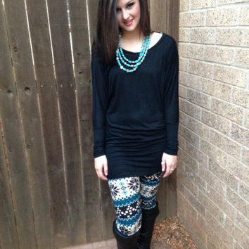 Solid Long Sleeve Dolman Tunic Top (Choose Your Color)