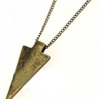 Gold Single Spearhead Necklace - Sheinside.com