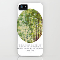 Two Roads iPhone Case by Alicia Bock | Society6