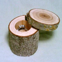 Jewelry Box, Ring Bearer Box, Rustic Wedding,  Trinket Box, Miniature