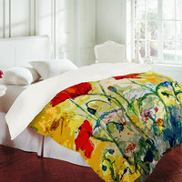 DENY Designs Home Accessories | Ginette Fine Art Poppies Provence Duvet Cover