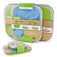 Smart Planet EC-34SLSET1 Eco Lunch Box Small Lrg Bl Grn
