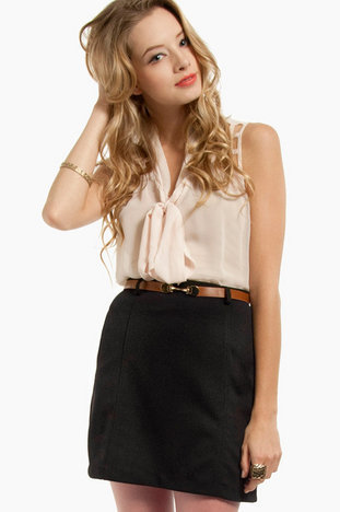 Composition Belted Skirt $38