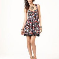 Free People Dress, Sleeveless Floral Print Tulle Hem - Dresses - Women's - Macy's