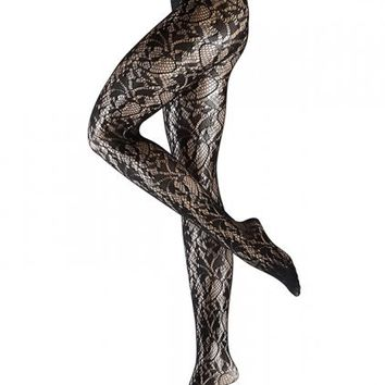 Falke Precious Flower Tights 40355 - Free Shipping at Freshpair.com