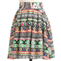 Painted Desert Horizon Skirt | Mod Retro Vintage Skirts | ModCloth.com