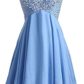 Kamilione Women's Sweetheart Chiffon Short Prom Homecoming Dresses