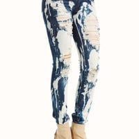 destroyed-bleached-jeans BLUE - GoJane.com