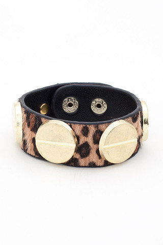Pony Hair Studded Cuff | Timeless Boutique