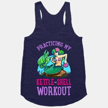 Practicing My Kettle-Shell Workout!