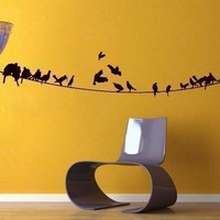 Birds on a Powerline Wall Decal by walldecors on Etsy