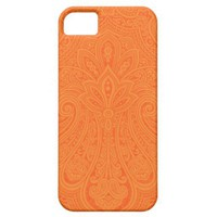 Tangerine Indian Paisley iPhone Case Iphone 5 Case from Zazzle.com