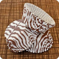 50 Brown and White Zebra Cupcake Liners by HeyYoYo on Etsy