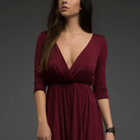 Surplice Babydoll Dress