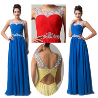 New Stock Long Formal Evening Gown Bridesmaid Prom Dress Wedding Party Dresses
