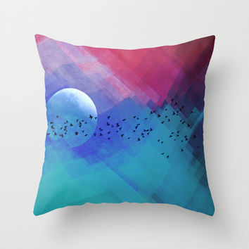 Dream Night Throw Pillow by SensualPatterns
