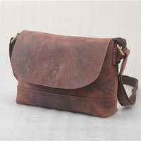 Distressed leather messenger bags for women - $88.50 : Notlie handbags, Original design messenger bags and backpack etc