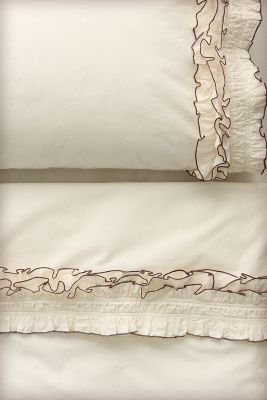 Ruffled Sheet Set, Cream - Anthropologie.com