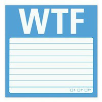WTF Sticky - A Straight to the Point Sticky Note by Knock Knock
