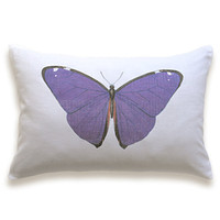 Butterfly Pillow Cover 12x18 inch White Cotton PRINT DESIGN 16