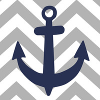 "Nautical Nursery Nautical Decor Nautical Nursery Set Chevron Stripes Scripture Sign Every Good and Perfect Gift is from Above-  5""x7"""