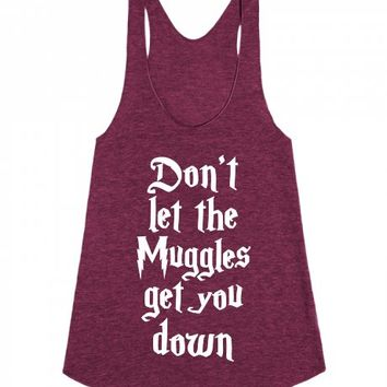 Don't Let The Muggles Get You Down-Unisex Tri Cranberry Tank