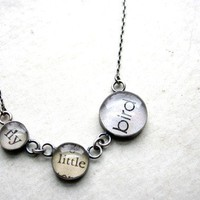 fly little bird necklace by foundling on Etsy