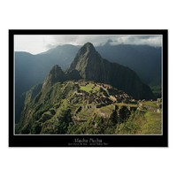 Machu Picchu Poster - New 7 Wonders of the World from Zazzle.com