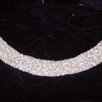 Crystal and clear glass Beaded Belt