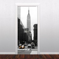 Buy New York door decoration in vinyl on Shoply.
