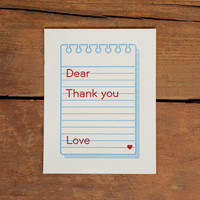 W+K Studio — Thank You Memo Note Card