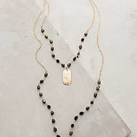 Ashen Light Layered Necklace by Heather Hawkins Black One Size Necklaces