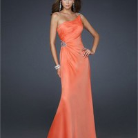 One shoulder with Beadings Floor Length A-line Chiffon Prom Dress PD2148 Dresses UK