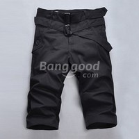 Fashionable Casual Summer Men's Shorts With Double Belts Free Shipping!  - US$15.65