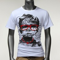New Fashionable Round Neck Original Little Boy Printed Short Men's T-Shirt Free Shipping!  - US$11.22