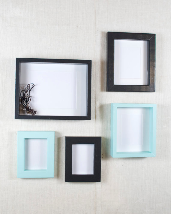 Gallery Wall Picture Frame Set Black From Anothercup On Etsy