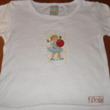 Certified Organic Cotton Long Sleeve Tshirt featuring Little Girl Lollipop - by 4lilbabushkas on madeit