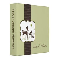 Mom and Baby Deer Photo Album 3 Ring Binder from Zazzle.com