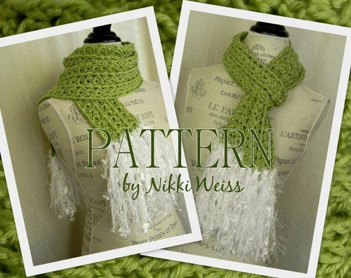 PATTERN - Fabulous Fringe Crochet Scarf - PDF crochet pattern