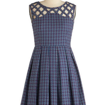 Been There, Grenadine That Dress in Blue   Mod Retro Vintage Dresses   ModCloth.com