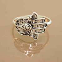 Filigree Hamsa Ring
