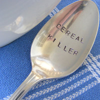 Cereal Killer Spoon vintage Hand Stamped Spoon