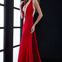 Long Open Back Formal Gown by Jasz