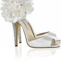 Brian Atwood Aurora Embellished Satin Sandals -