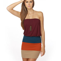 Trio de Janeiro Purple Color Block Dress $32.00