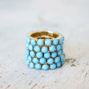 Stacks of Turquoise Ring, Sweet Bohemian Jewelry
