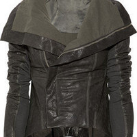 Rick Owens | Paneled leather jacket | NET-A-PORTER.COM