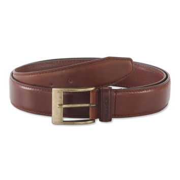 Belt in Top Grain Leather in Brandy Color - 391903 - Leather /
